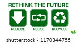 reduce reuse recycle concept.... | Shutterstock .eps vector #1170344755