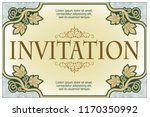 vector template flyer ... | Shutterstock .eps vector #1170350992