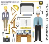profession and occupation set.... | Shutterstock .eps vector #1170352768