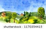 watercolor illustration of...   Shutterstock . vector #1170354415