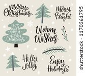 merry christmas and happy new... | Shutterstock .eps vector #1170361795