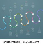 12 point curved horizontal 3d... | Shutterstock .eps vector #1170362395