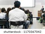 seminar conference image | Shutterstock . vector #1170367042