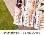 top view of slim woman's body... | Shutterstock . vector #1170370498