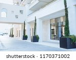 glass enter to building with... | Shutterstock . vector #1170371002