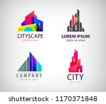 vector set of modern city logos ... | Shutterstock .eps vector #1170371848