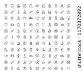 oncology icon set. collection... | Shutterstock .eps vector #1170372892