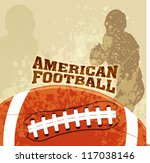 vector american football with... | Shutterstock .eps vector #117038146