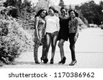 group of four african american... | Shutterstock . vector #1170386962