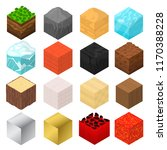 mine cubes signs 3d icon set... | Shutterstock .eps vector #1170388228