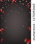 red confetti isolated on... | Shutterstock .eps vector #1170392665
