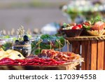 beautifully decorated catering... | Shutterstock . vector #1170394558