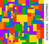 plastic construction blocks... | Shutterstock .eps vector #1170399865