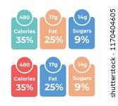 labels calories ingredient... | Shutterstock .eps vector #1170404605