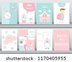 set of back to school card set  ... | Shutterstock .eps vector #1170405955