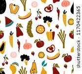 vector seamless pattern with... | Shutterstock .eps vector #1170422365