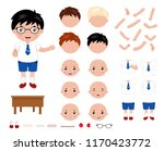 adorable little school boy... | Shutterstock .eps vector #1170423772