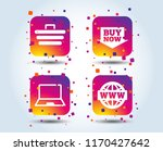 online shopping icons. notebook ...   Shutterstock .eps vector #1170427642
