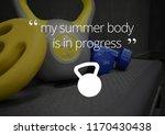 fitness motivation quote   Shutterstock . vector #1170430438