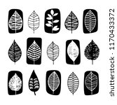 leaves icon vector set | Shutterstock .eps vector #1170433372