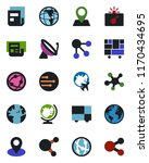 color and black flat icon set   ... | Shutterstock .eps vector #1170434695