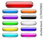 colored glass 3d buttons with... | Shutterstock .eps vector #1170435802