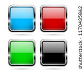 colored glass 3d buttons with... | Shutterstock .eps vector #1170435862