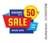 sale   discount up to 50 ...   Shutterstock .eps vector #1170437038