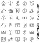 thin line vector icon set  ... | Shutterstock .eps vector #1170438385
