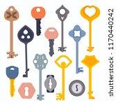 set of vintage and modern door  ... | Shutterstock .eps vector #1170440242