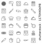 thin line vector icon set   pan ... | Shutterstock .eps vector #1170440698