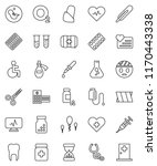 thin line vector icon set  ... | Shutterstock .eps vector #1170443338
