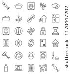 thin line vector icon set  ... | Shutterstock .eps vector #1170447202
