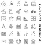 thin line vector icon set  ... | Shutterstock .eps vector #1170447445