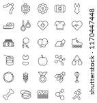 thin line vector icon set  ... | Shutterstock .eps vector #1170447448