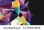 polygonal geometric design ... | Shutterstock .eps vector #1170447805