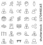 thin line vector icon set  ... | Shutterstock .eps vector #1170448165