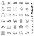 thin line vector icon set  ... | Shutterstock .eps vector #1170448795