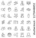 thin line vector icon set  ... | Shutterstock .eps vector #1170448852