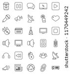 thin line vector icon set  ... | Shutterstock .eps vector #1170449242