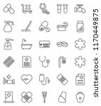 thin line vector icon set  ... | Shutterstock .eps vector #1170449875