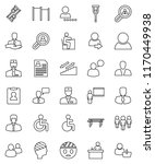 thin line vector icon set  ... | Shutterstock .eps vector #1170449938