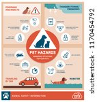 pet safety tips infographic... | Shutterstock .eps vector #1170454792