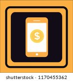 mobile vector icon | Shutterstock .eps vector #1170455362