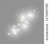 white sparks glitter special... | Shutterstock .eps vector #1170455785