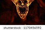 angry demon face screams in... | Shutterstock . vector #1170456592