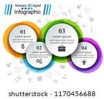 3d infographic design template... | Shutterstock .eps vector #1170456688