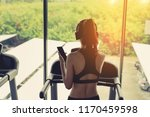woman exercise running workout... | Shutterstock . vector #1170459598