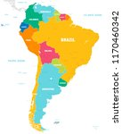 vector map of south america... | Shutterstock .eps vector #1170460342