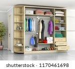 wardrobe. closet compartment in ... | Shutterstock . vector #1170461698